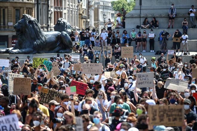 London Black Lives Matter hold protest at Trafalgar Square on Sunday (May 31st)