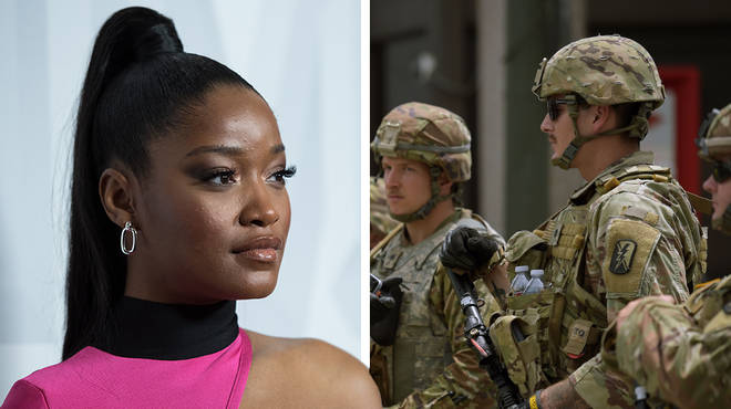 Keke Palmer, 26, plead with soldiers during her powerful Black Lives Matter speech