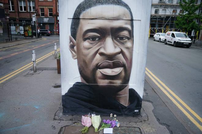 Mural dedicated to George Floyd in the UK