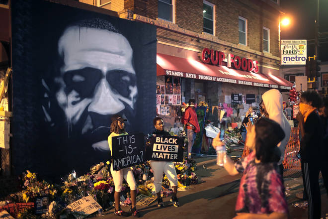 Protests continue in Minneapolis over the death of unarmed black man George Floyd who died in police custody.