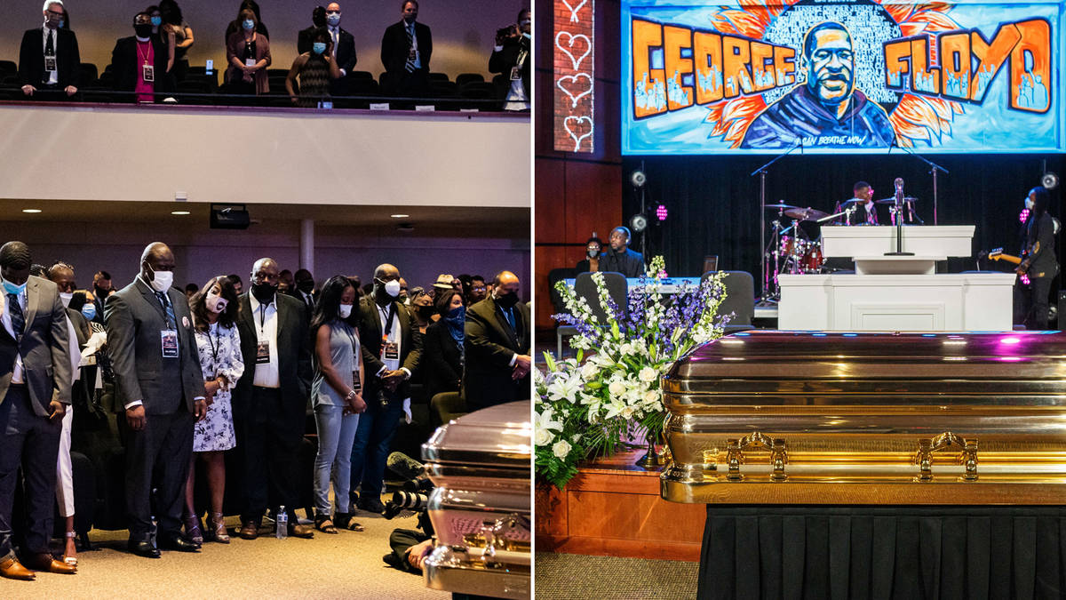 George Floyd memorial holds 8 minute, 43 second silence to commemorate his death