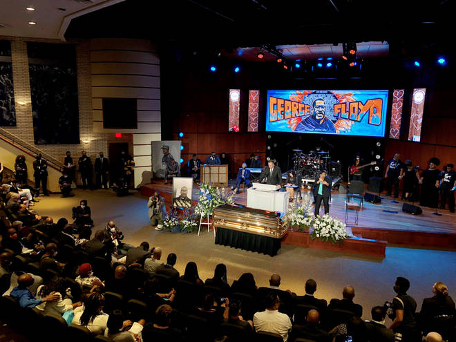 Mourners gathered at George Floyd's first of four memorial services yesterday (June 4).