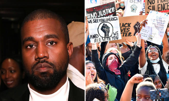 Kanye West was spotted protesting in Chicago after the death of George Floyd.