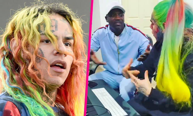 Tekashi 6ix9ine teams up with Akon to record new music