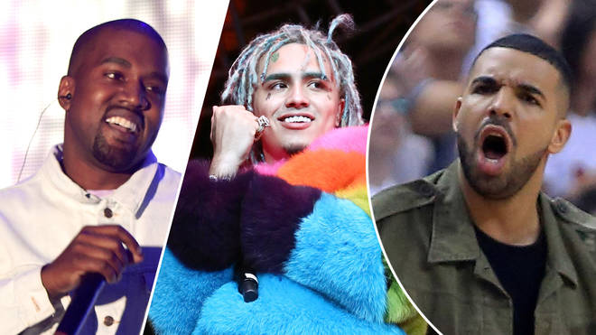Kanye West performs at 2016 Coachella/ Lil Pump performs at the 2018 BET Experience/Drake at the 2016 NBA Playoffs.