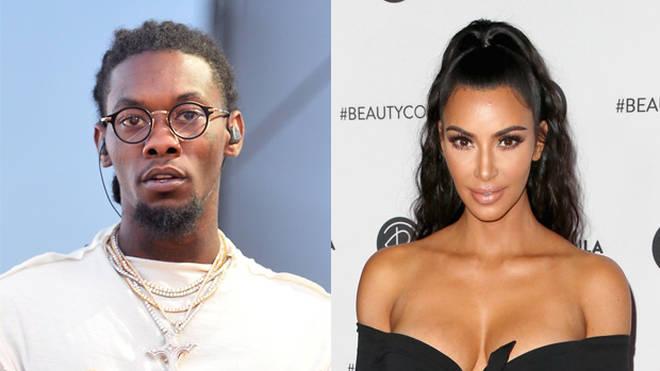 Offset and Kim Kardashian