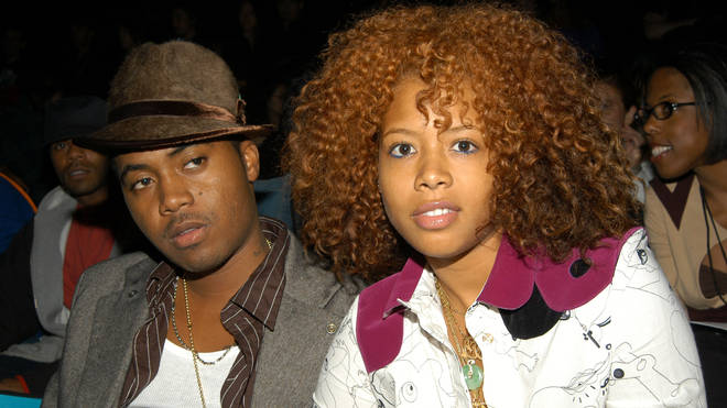 Nas (L) and Kelis appear at the Baby Phat Spring/Summer 2004 Collection fashion show September 13, 2003 in Bryant Park in New York City.