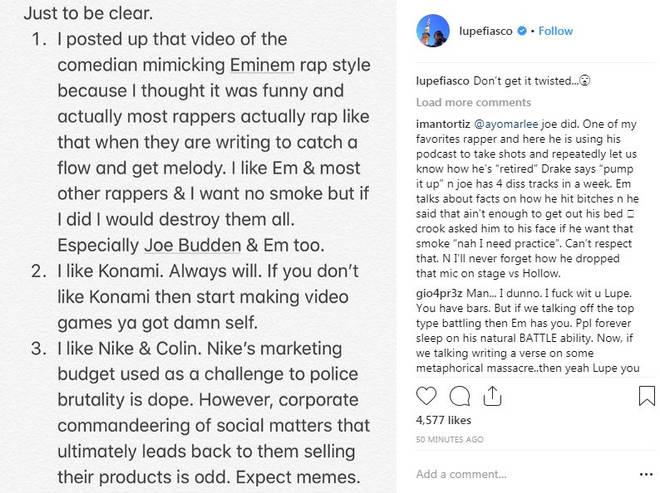 Lupe Fiasco threatening Eminem and Joe Budden