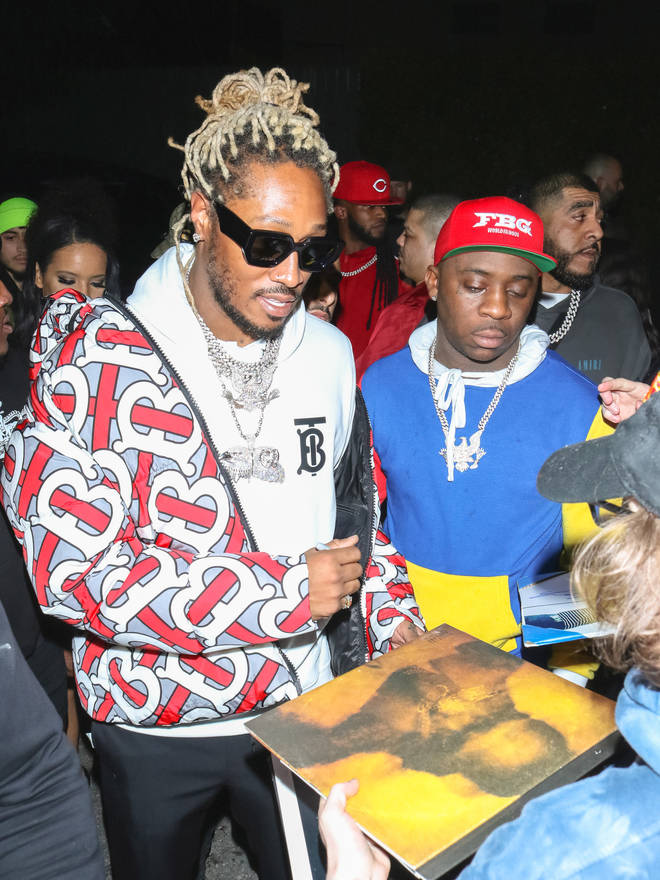 Future (left) is yet to respond to 6ix9ine calling out his parenting skills.