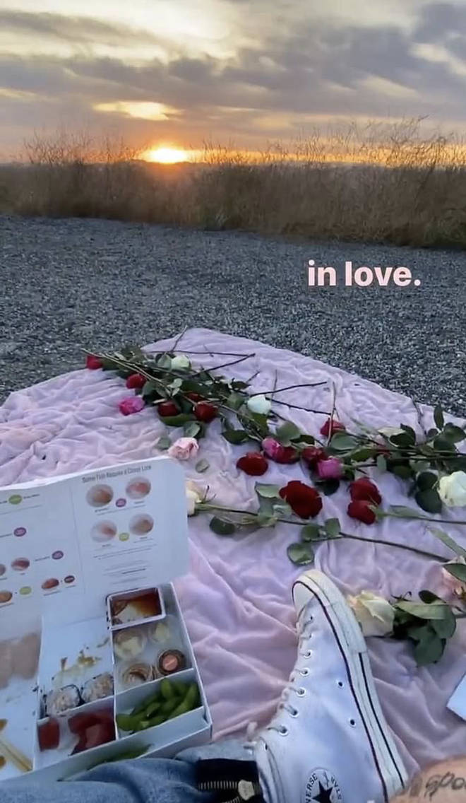 Machine Gun Kelly and Megan Fox on a romantic picnic date