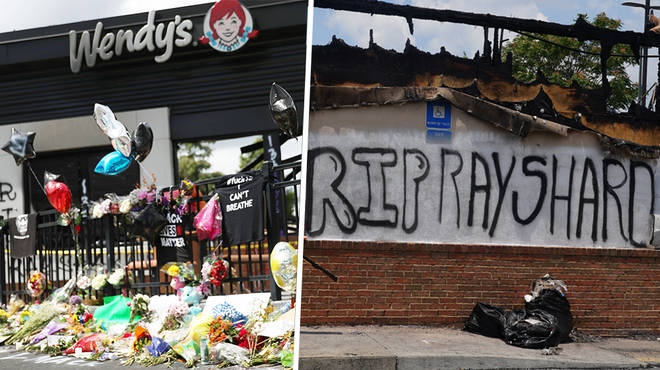Two charged police officers have turned themselves in following the death of Rayshard Brooks
