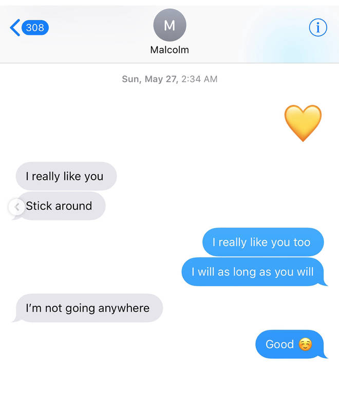 Julia Kelly text conversation with Mac Miller