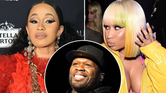 Cardi B, 50 Cent, Nicki Minaj.