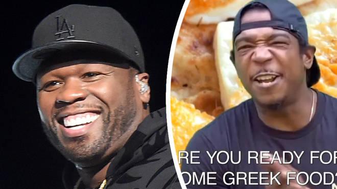 50 Cent mocks Ja Rule over Greek food advert