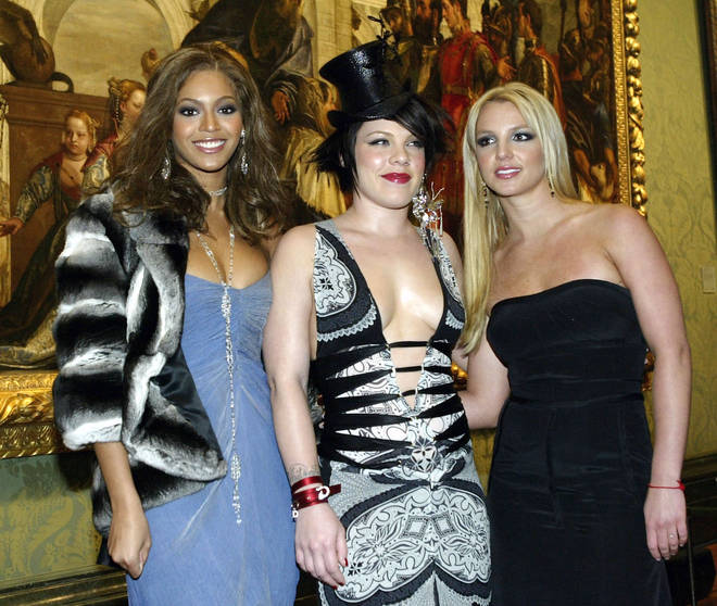 Beyoncé filmed a TV advert with Britney Spear and Pink back in 2003