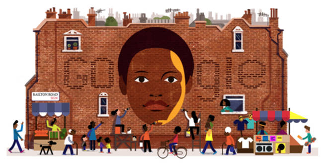Google Doodle celebrate Olive Morris today on what would have been her 68th birthday