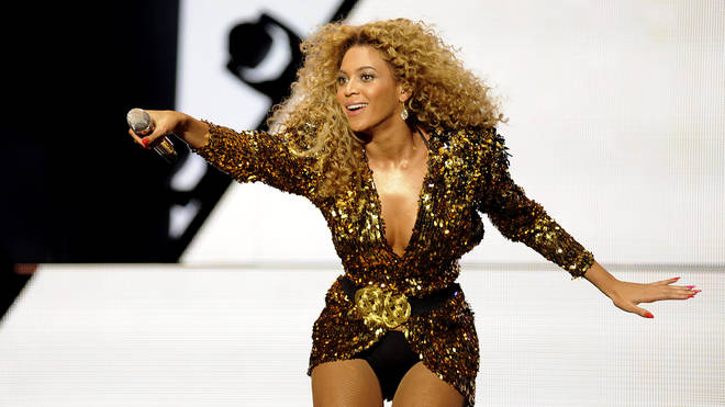 Beyonce performed a headline set at Glastonbury in 2011