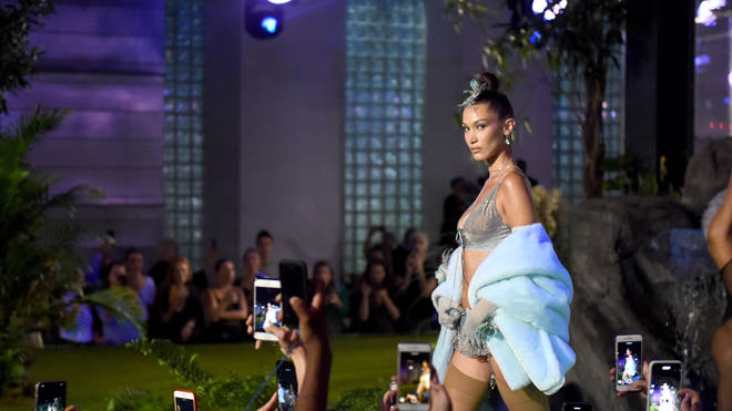 Bella Hadid walks the runway.