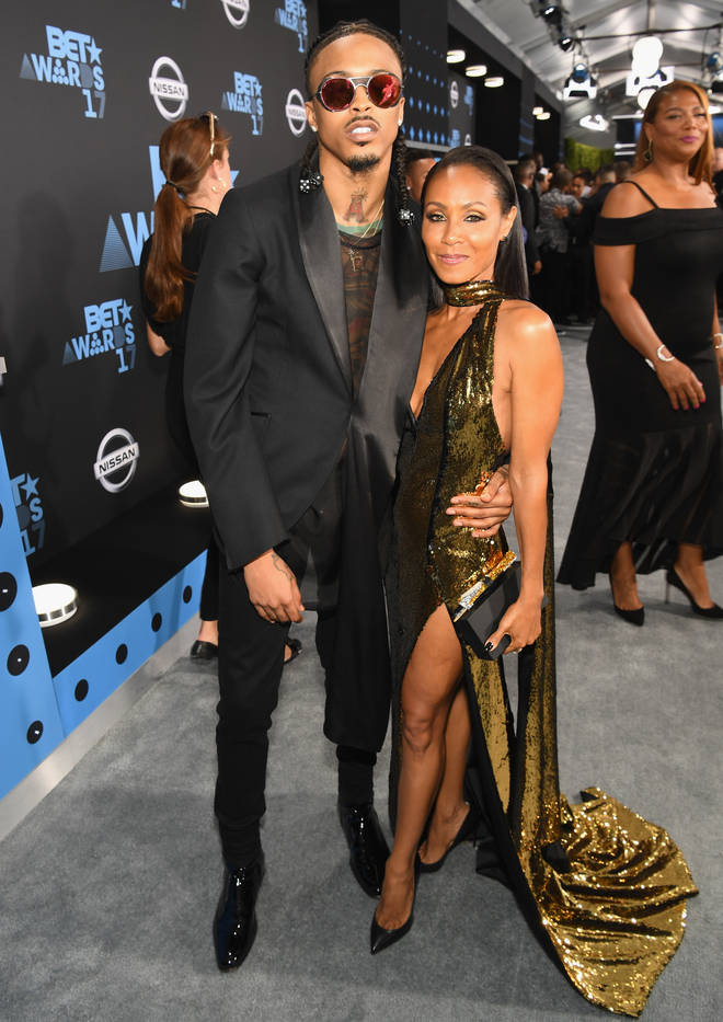 August Alsina and Jada Pinkett-Smith attend the BET Awards together in 2017
