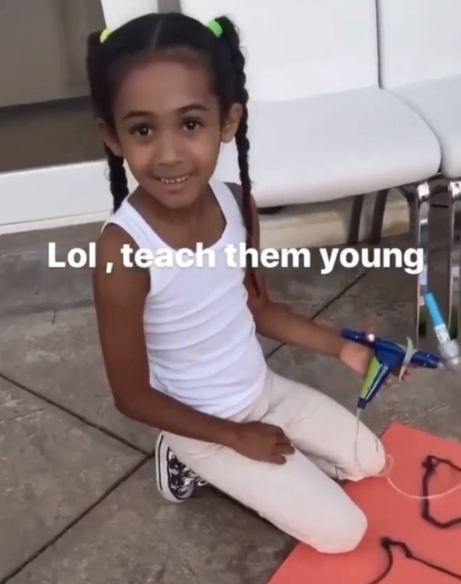 Chris Brown's daughter Royalty makes Black Lives Matter sign
