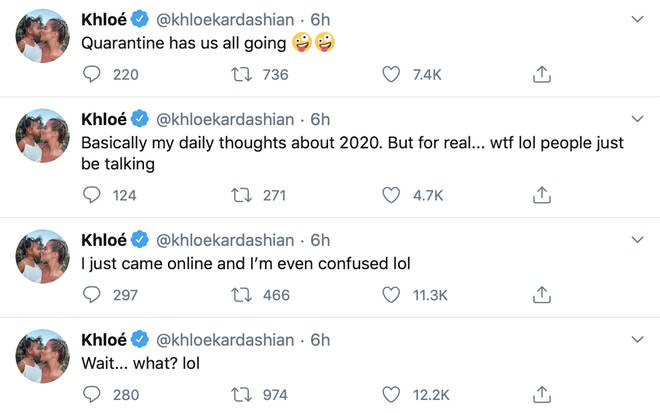 Khloe cryptically responded to the rumours of her getting back with Tristan.