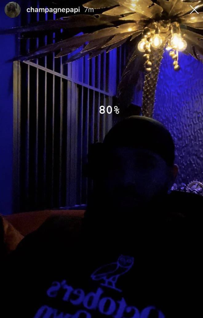 "Drake cryptically confirmed that the album is ""80%"" done."