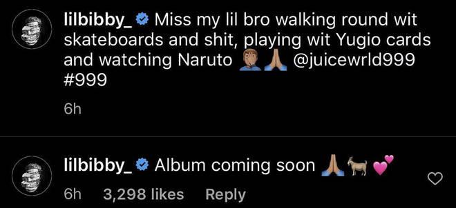 "Lil Bibby reveals Juice WRLD&squot;s album is ""coming soon"""