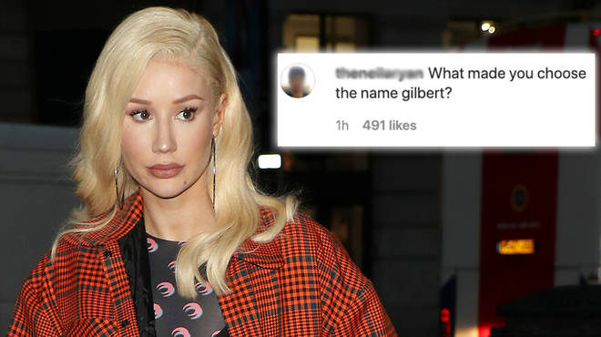 "Iggy Azalea responds to fans speculating her son&squot;s name is ""Gilbert"""