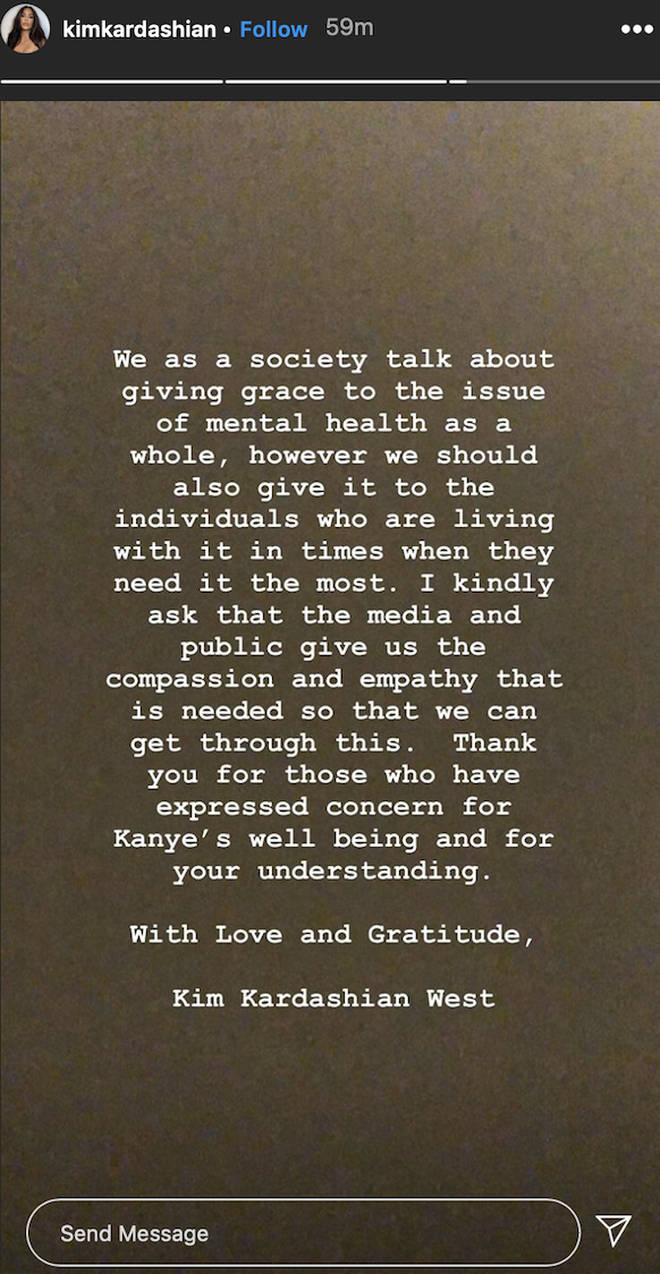 Kim Kardashian releases emotional statement on Instagram
