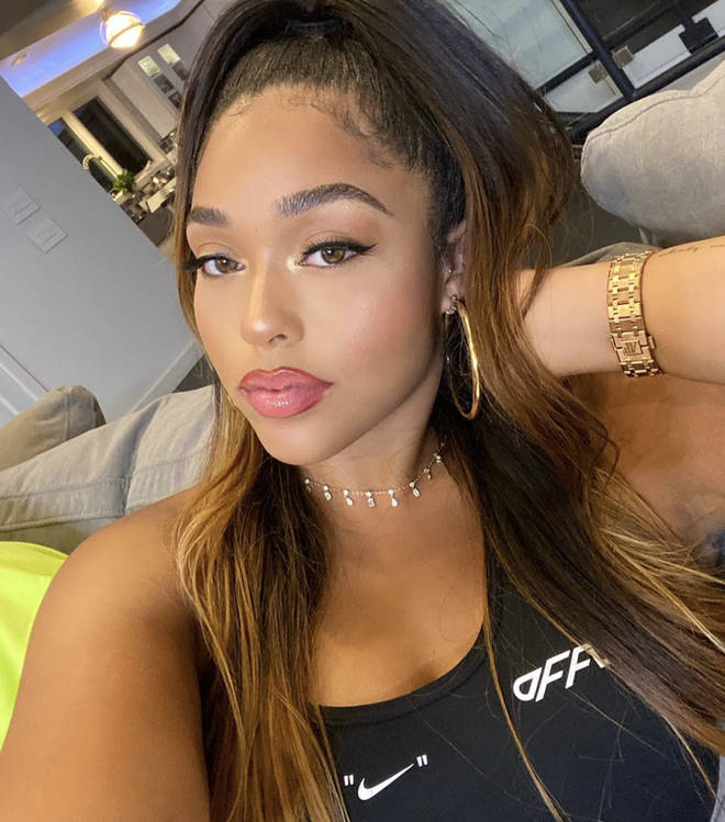Jordyn Woods reportedly liked a tweet claiming Larsa Pippen slept with Khloe's baby daddy Tristan Thompson.