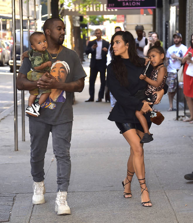 Kim and Kanye have four children together - daughters North (pictured, right) and Chicago, and sons Saint (pictured, left) and Psalm.