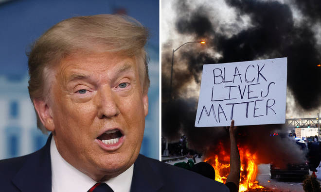 Donald Trump has placed the blame on Black Lives Matter demonstrations over the US's COVID-19 spike.