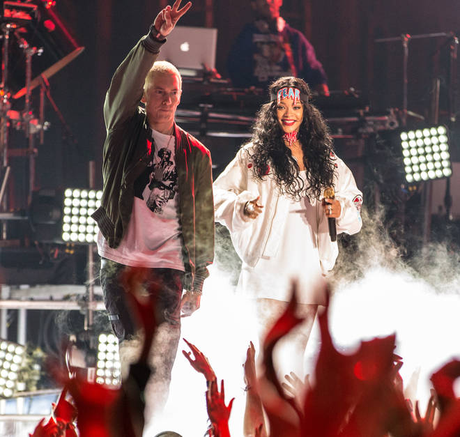 Fans think long-time collaborators Eminem and Rihanna have worked on a new song together.