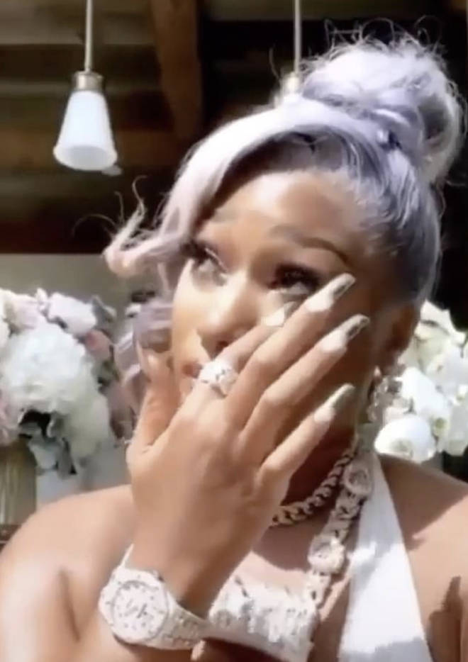 Megan Thee Stallion breaks down in tearful video, while addressing being shot in the feet