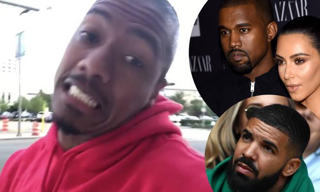 Nick Cannon, Kanye West, Kim Kardashian, Drake.
