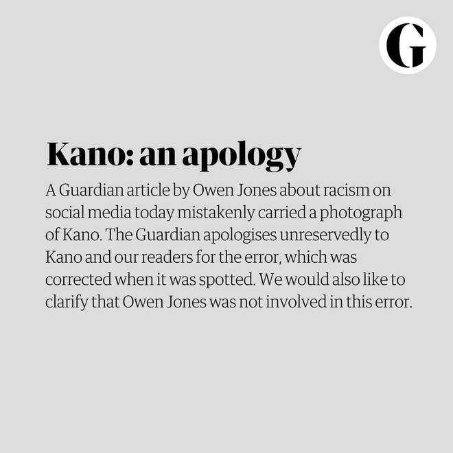 The Guardian issues an apology to Kano and their readers