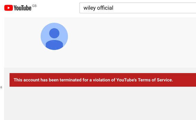 Wiley's YouTube account removed for breaking Terms of Service