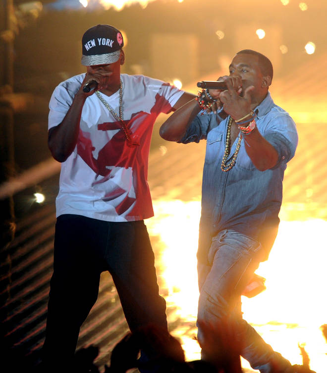 Kanye shared a screenshot from a video of his performance with Jay-Z at the 2011 MTV Video Music Awards.
