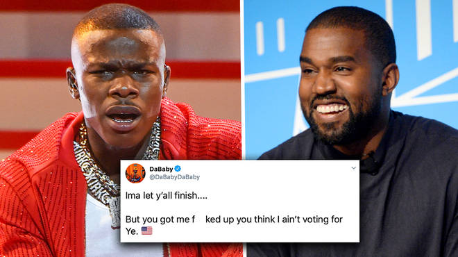 DaBaby dragged by fans after admitting he's voting Kanye West for President