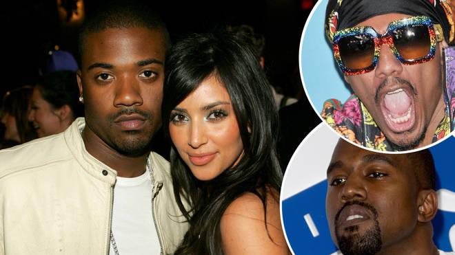 Ray J, Kim Kardashian, Nick Cannon and Kanye West.
