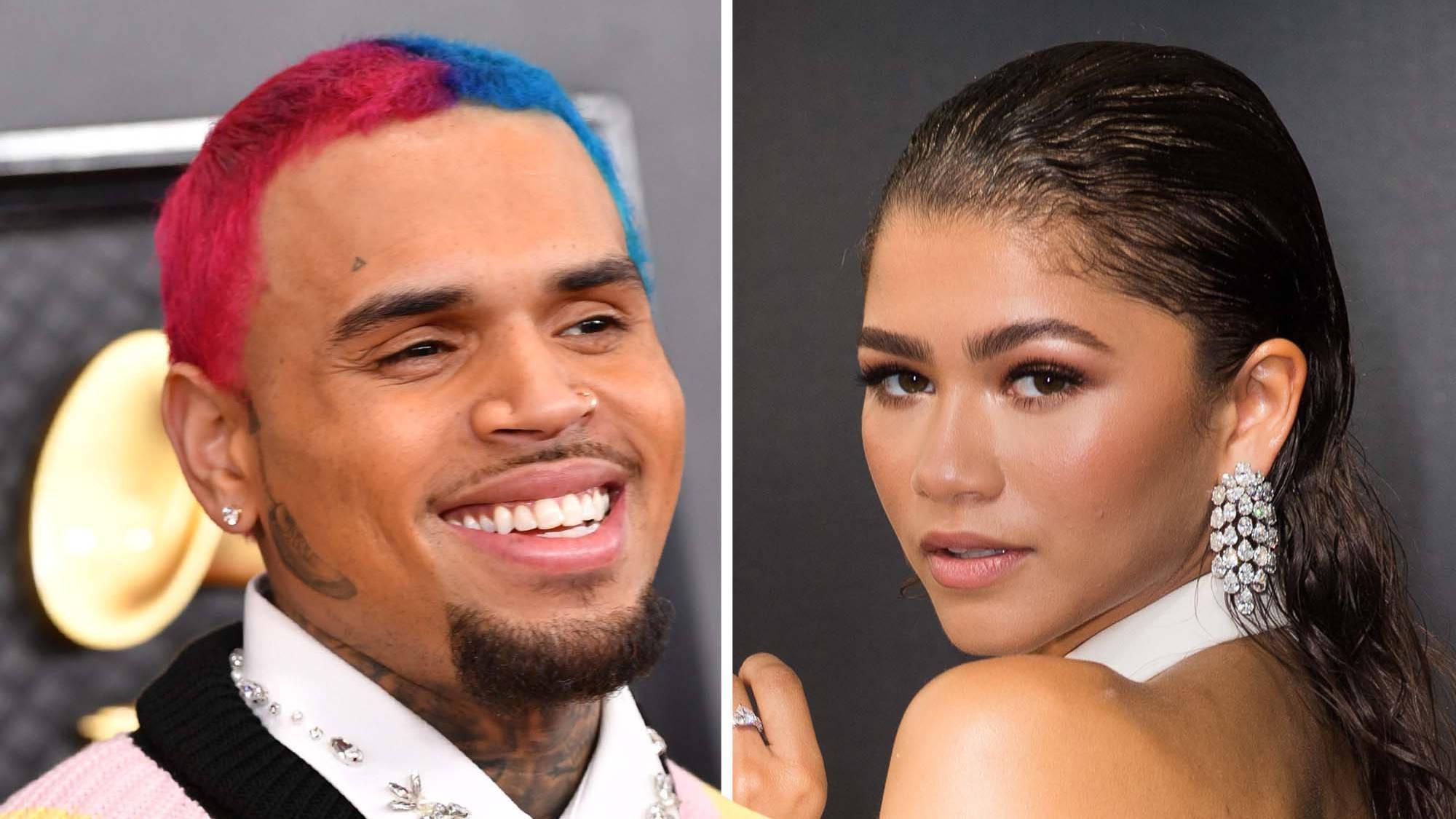 """Chris Brown begs Zendaya to drop """"fire"""" unreleased music video ..."""