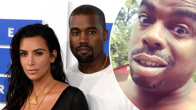 Kim Kardashian, Kanye West, Daz Dillinger.