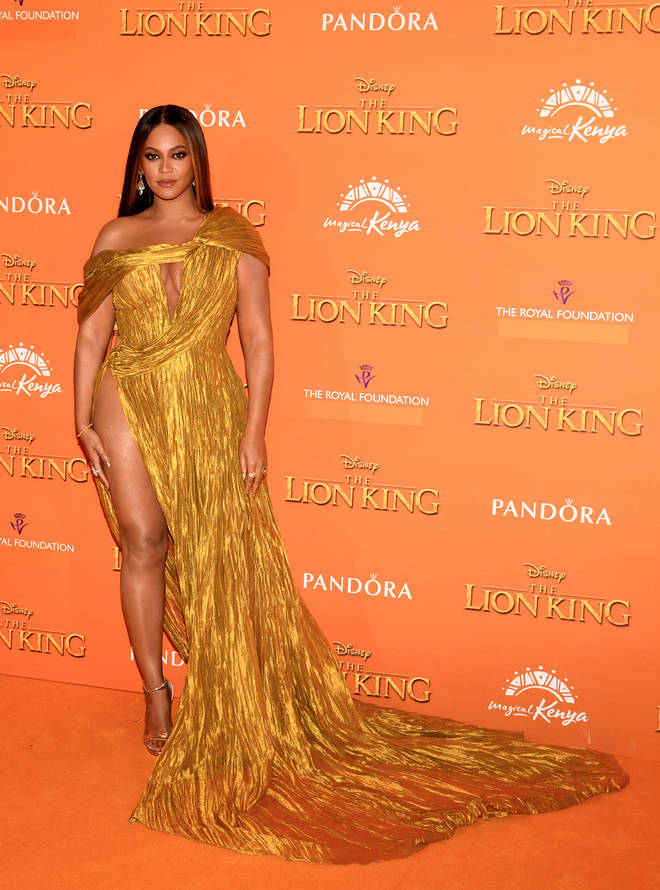 "Beyoncé at Disney&squot;s ""The Lion King"" premiere in London"