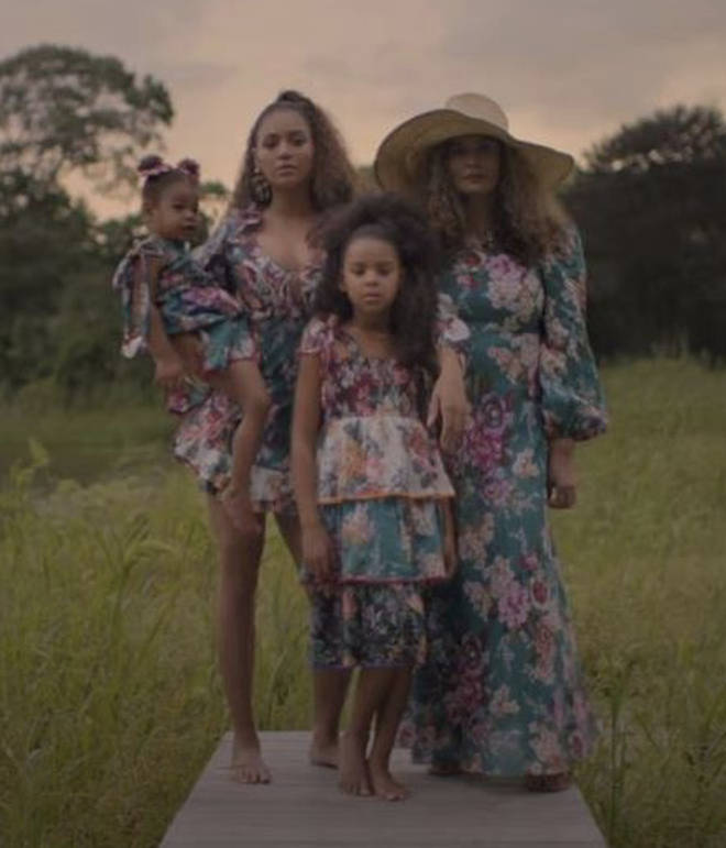 Beyoncé, her two daughter's and her the mother Tina Lawson star in the music video