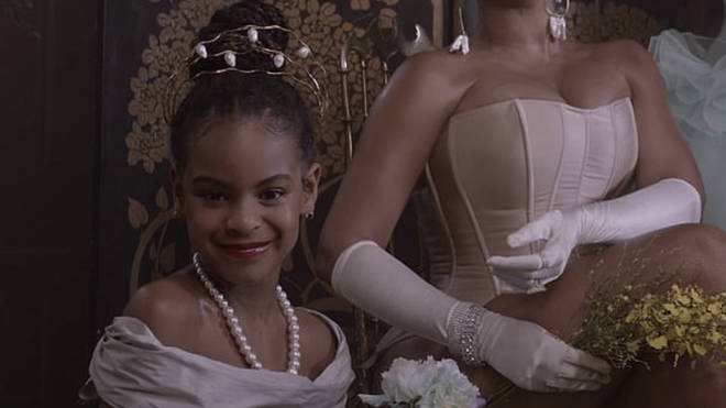 Blue Ivy, 8, sings her mother's verse with her as she star's in the music video