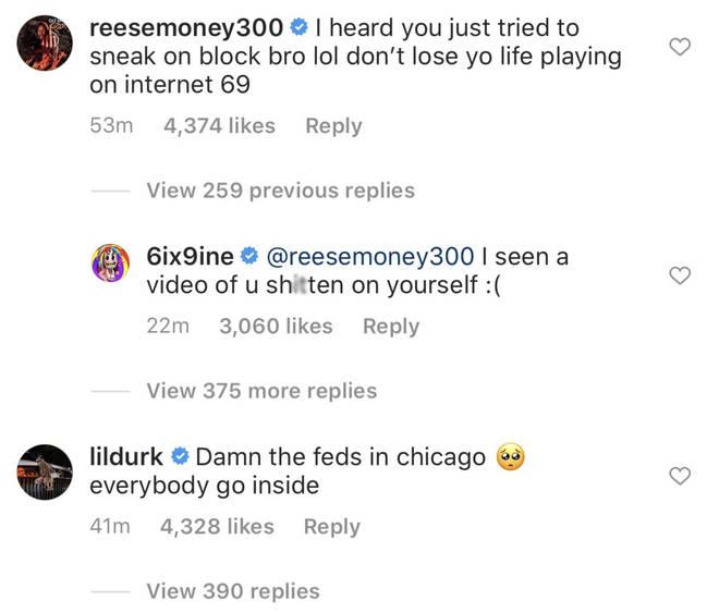 Lil Reese and Tekashi 6ix9ine beef online