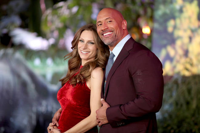 Dwayne 'The Rock' Johnson - pictured here with wife Lauren Hashian - said he and his family tested positive for COVID-19.
