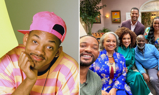 Will Smith reunites with Fresh Prince cast for epic selfie on the show's 30th anniversary.