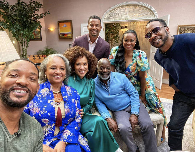 """Smith wrote, """"Today is exactly 30 YEARS since The @FreshPrince of Bel-Air debuted! So we're doin' something for y'all… a for real Banks Family Reunion is comin' soon to @HBOmax! RIP James. #FreshPrince30th""""."""