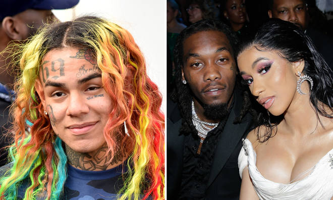 Tekashi 6ix9ine throws shade at Offset for marrying Cardi B.